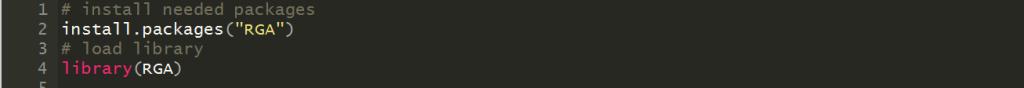 R의 RGA 라이브러리로 Google Analaytics 분석